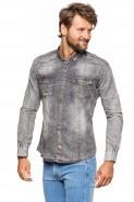 Koszula męska jeansowa czarna