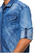 Koszula męska jeansowa niebieska rdp