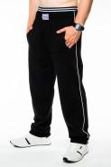 Spodnie dresowe męskie - 100% bawełna - czarne