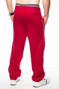 Spodnie dresowe męskie - 100% bawełna - czerwone
