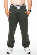 Spodnie dresowe męskie - 100% bawełna - khaki