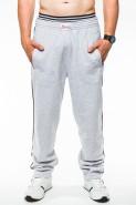 Spodnie dresowe męskie - 100% bawełna - melanż