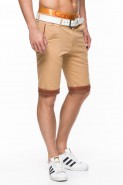 Spodenki męskie bawełniane Stanley Jeans - beżowe
