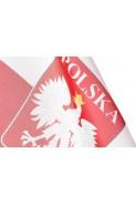 Flaga Polski - Narodowa - Polska - z godłem - 90cm x 65cm
