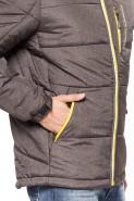 Kurtka męska jesienna zimowa - puchowa pikowana - 7265BZ