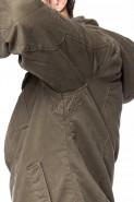 Kurtka męska - pikowana  - wstawki z flauszu - brąz