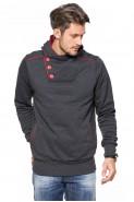 Bluza 3-er - Japan Style - stójka z kapturem - antracyt