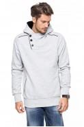 Bluza 3-er - Japan Style - stójka z kapturem - szara
