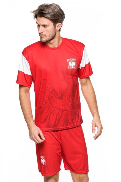 Polska - koszulka kibica - super orzeł - czerwona