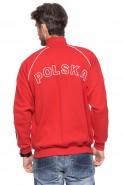 Polska - Bluza kibica na zamek bez kaptura - czerwona