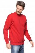 Klasyczna bluza bez kaptura - 100% bawełna - czerwona