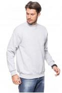 Klasyczna bluza bez kaptura - 100% bawełna - melanż