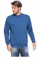 Klasyczna bluza bez kaptura - 100% bawełna - jeansowa