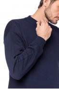 Klasyczna bluza bez kaptura - 100% bawełna - granat