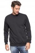 Klasyczna bluza bez kaptura - 100% bawełna - ciemny grafit