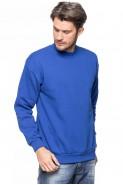Klasyczna bluza bez kaptura - 100% bawełna - chabrowa