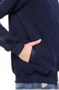Bluza na zamek bez kaptura - Mars - 100% bawełna - granat