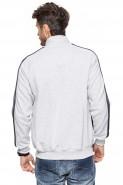 Bluza na zamek bez kaptura - Mars - 100% bawełna - melanż