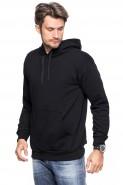 Bluza z kapturem - kangurka - 100% bawełna - czarna