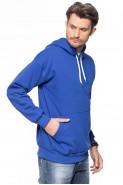 Bluza z kapturem - kangurka - 100% bawełna - chabrowa