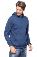 Bluza z kapturem - kangurka - 100% bawełna - jeans