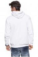 Bluza z kapturem - kangurka - 100% bawełna - biała