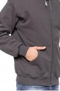 Bluza na zamek z kapturem - 100% bawełna - grafit