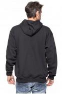 Bluza na zamek z kapturem - 100% bawełna - ciemny grafit