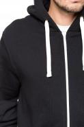 Bluza na zamek BIG z kapturem - Nadwymiar - czarna