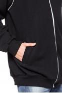 Bluza na zamek BIG bez kaptura - Nadwymiar - czarna