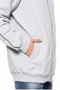 Bluza na zamek BIG bez kaptura - Nadwymiar - melanż