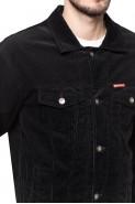 Kurtka męska - sztruksowa - Stanley Jeans - czarna