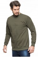 Klasyczna bluza bez kaptura - 100% bawełna - khaki