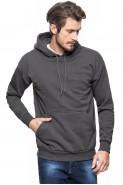 Bluza z kapturem - kangurka - 100% bawełna - grafitowa