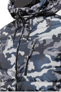 Kurtka męska przejściowa z kapturem - moro - army - khaki
