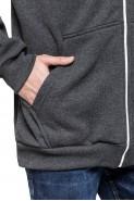 Bluza na zamek BIG z kapturem - Nadwymiar - antracyt