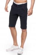 Spodenki męskie bawełniane Stanley Jeans - granatowe