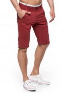 Spodenki męskie bawełniane Stanley Jeans - czerwone