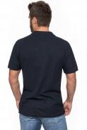 Koszulka męska POLO - 100% bawełna - GRANATOWA