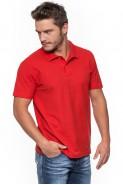 Koszulka męska POLO - 100% bawełna - CZERWONA
