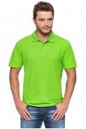 Koszulka męska POLO - 100% bawełna - zielona limonka