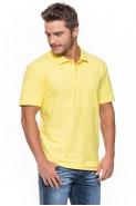 Koszulka męska POLO - 100% bawełna - żółta