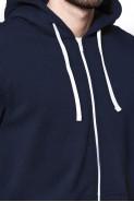 Bluza na zamek BIG z kapturem - Nadwymiar - granatowa