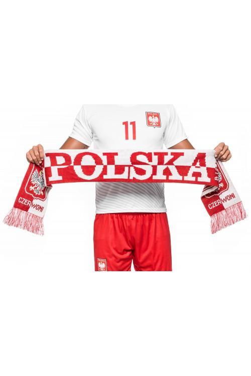 Szalik reprezentacji - POLSKA - dwustronny, dziany - wzór BT2