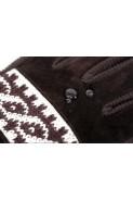 Rękawiczki męskie zimowe grube ocieplane zamszowe z futerkiem w środku