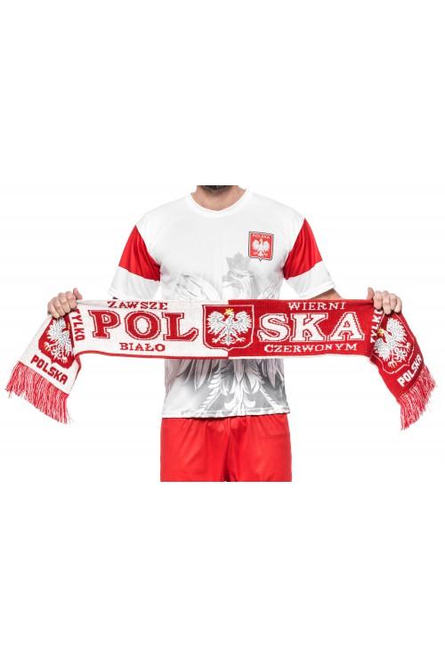 Szalik reprezentacji - POLSKA - dwustronny, dziany - wzór BT4