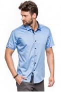 Koszula męska - krótki rękaw - gładka