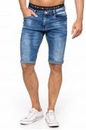 Spodenki męskie jeans wycierane z przetarciami