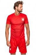Polska - koszulka kibica - piłkarska - gładka - czerwona