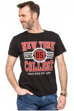 Koszulka męska - Tshirt - New York 85 - czarna